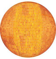 Orange Ball in mosaic vector