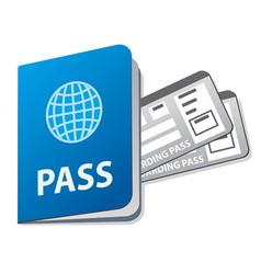 Passport and tickets vector