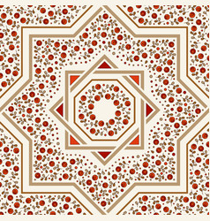 patterned floor tile moroccan pattern vector image