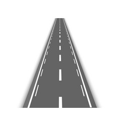 Perspective straight road template vector