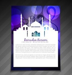 Ramadan brochure background vector
