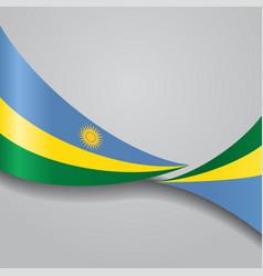 Rwandan wavy flag vector