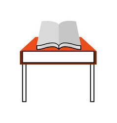 school table with book isolated icon vector image