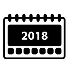 simple 2018 calendar icon vector image