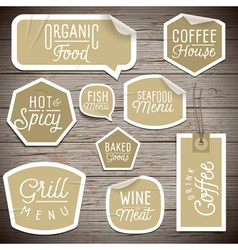 slogans stickers food fish vector image