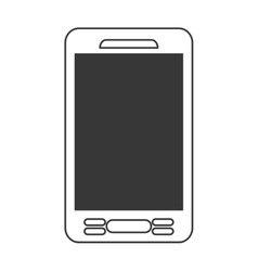 smartphone phone mobile flat icon vector image