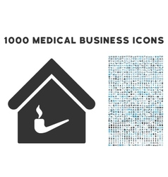 Smoking room icon with 1000 medical business vector