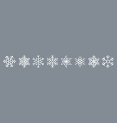 snow icon paper snowflake for christmas white vector image