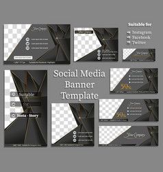 social media banner template vector image