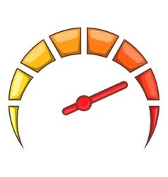 Speedometer at maximum speed icon cartoon style vector