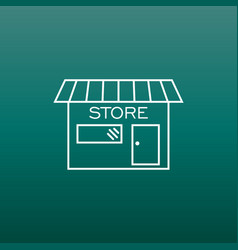 Store icon in flat style shop symbol vector