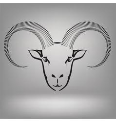 Symbol of goat vector