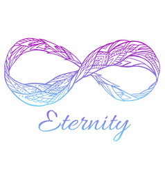 The sign of eternity with a boho vector
