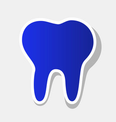 tooth sign new year bluish vector image