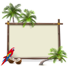 tropical resort frame vector image