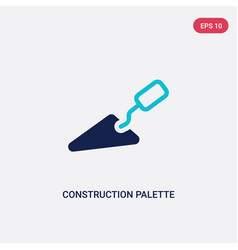 Two color construction palette icon from vector