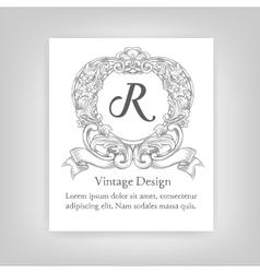 Vintage emblem monogram vector