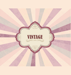 Vintage frame over retro textured background vector