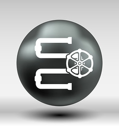 Water Pipeline Business icon button logo symbol vector image