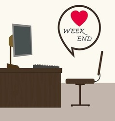 weekend at office vector image