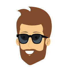 Young man with sunglasses avatar character vector