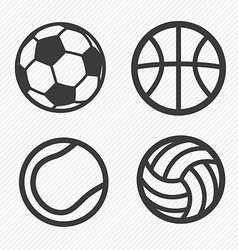 Ball icons set vector image