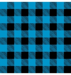 Blue and Black Flannel Background vector image vector image