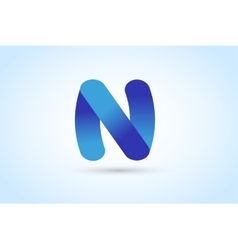 N letter logo icon template vector image