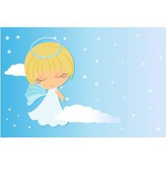 angel looking over shoulder vector image
