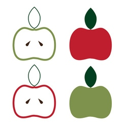apples set design template vector image