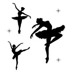 balerina-silhouette vector image