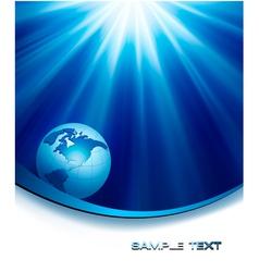 blue elegant background with globe vector image vector image