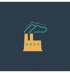 INDUSTRY flat icon vector image vector image