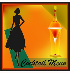 Retro Cocktails vector image