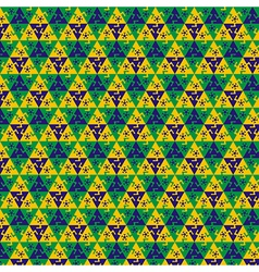Seamless football pattern vector image vector image