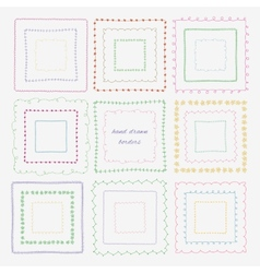 Set of dividers and borders Hand-drawn elements vector image vector image
