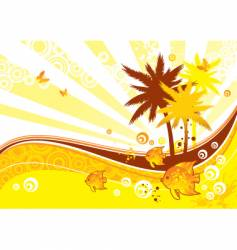 sunny vector image