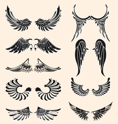wings tattoo vector image