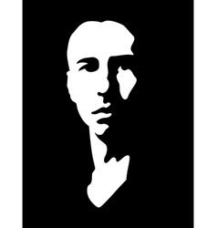 Black and white portrait vector