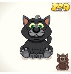 Cartoon Black Cat Character vector image vector image