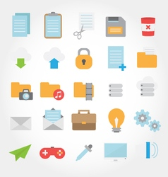 Website and computer flat design icon vector image