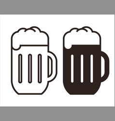 beer mugs set vector image vector image
