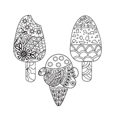et ice cream for coloring book for adult vector image vector image