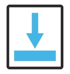 Move bottom framed icon vector