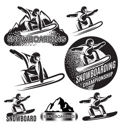 set of monochrome sports templates with vector image
