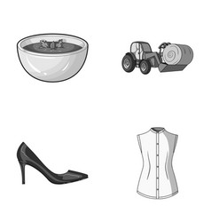 sewing food and other monochrome icon in cartoon vector image vector image