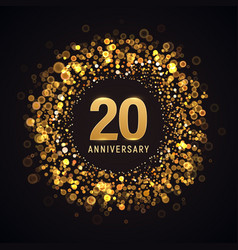 20 years anniversary isolated design vector image