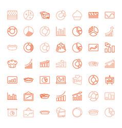49 pie icons vector image