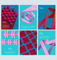 abstract colored covers geometry modern shapes vector image