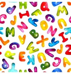 alphabet seamless pattern Eps10 vector image